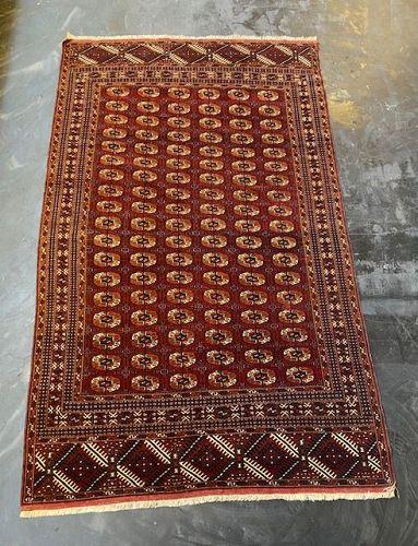 Antique Turkmenistan Tekke Rug Hand Knotted 1880's
