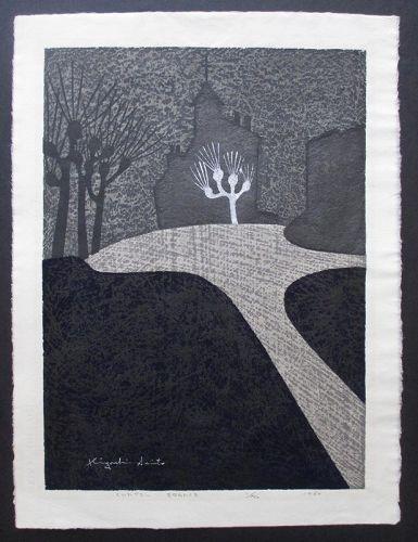 Kiyoshi Saito Woodblock Print - Chapel France, 1960, 11/120