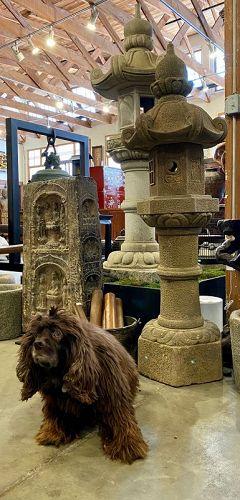 Antique Japanese 19th Century Stone Temple Lantern