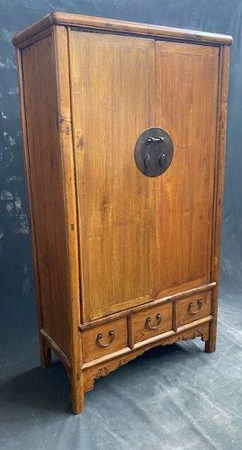 Antique Chinese Wardrobe Cabinet Jumu Wood 19th Century