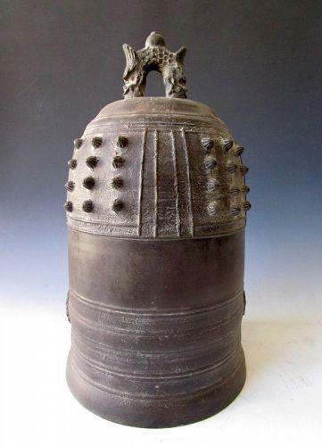 Japanese Antique Bronze Temple Bell Buddhist Bonsho