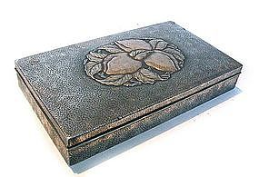 Japanese Silver Plated Box with Peaches