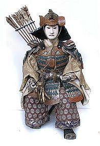 Great Japanese Samurai Doll,  Meiji Period