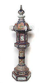 Antique Japanese Imari Lantern
