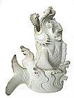 Japanese Hirado Ware Dragon Fish