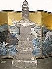 Japanese Antique 8-Part Stone Pagoda