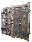 Japanese Large Pair of Temple Doors