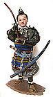 Japanese Antique Samurai Warrior Doll